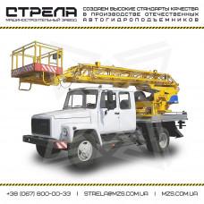 Автогидроподъемник АП-18 на шасси ГАЗ-3309 ДУЭТ